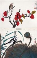花鸟双挖 立轴 - 谢稚柳 - 名家字画精品专场 - 2011秋季中国名家字画精品拍卖会 -中国收藏网