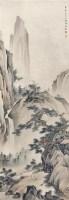 耸松飞瀑 镜片 设色纸本 - 5014 - 中国书画一 - 2011年秋季大型艺术品拍卖会 -收藏网