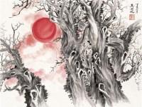 红日 镜心 设色纸本 - 116172 - 中国近现代书画 - 2011秋季拍卖会 -收藏网