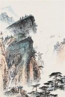 山水 立轴 设色纸本 - 4225 - 中国书画 - 2006艺术品拍卖会 -中国收藏网
