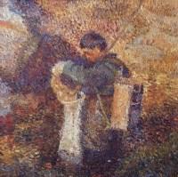 佟占海 钓鱼 布面 油画 -  - 油画 - 2006年金秋珍品拍卖会 -收藏网