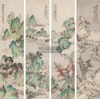 四季山水 立轴 设色纸本 - 4778 - 中国书画专场 - 首届艺术品拍卖会 -收藏网
