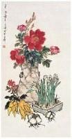 水仙牡丹 镜心 设色纸本 - 116837 - 古代 近现代书画 - 2007年首届中国艺术品拍卖会 -中国收藏网