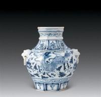 元景德镇窑青花神兽纹罐 -  - 中国古代工艺美术 - 2007年仲夏拍卖会 -中国收藏网