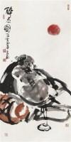 醉态图 镜片 设色纸本 - 李世南 - 中国书画一 - 2011春季艺术品拍卖会 -收藏网