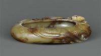 老玉雕二龙笔洗 -  - 当代玉雕杂项 - 2011秋季艺术品拍卖会 -收藏网