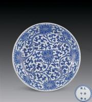 清康熙 青花缠枝莲纹盘 -  - 瓷杂专场 - 2006年秋季拍卖会 -中国收藏网