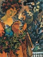 夏俊娜 1999年作 盛妆 纸上油彩 - 夏俊娜 - 西洋美术 - 2006秋季大型艺术品拍卖会 -收藏网