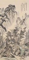 山水 立轴 设色纸本 - 140949 - 中国书画 - 2005秋季艺术品拍卖会 -收藏网