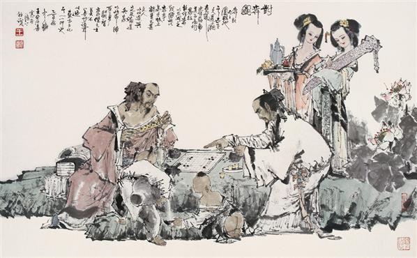 云林策杖 立轴 水墨纸本 - 116692 - 中国书画 - 2006年秋季拍卖会 -收藏网