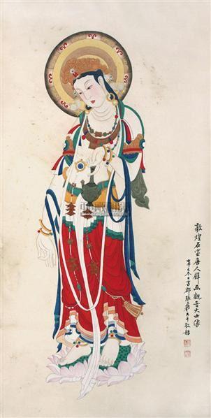 佛像 镜片 纸本 - 116070 - 中国书画 - 2011中国艺术品拍卖会 -收藏网
