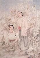 刘玲 阳光 镜心 设色纸本 - 156196 - 当代中国书画(一) - 2006畅月(55期)拍卖会 -中国收藏网