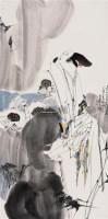 李清照词意图 镜心 设色纸本 - 5525 - 中国书画 - 2008春季艺术品拍卖会 -收藏网