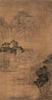 雨过看松图 立轴 设色绢本 - 盛茂烨 - 中国古代书画 - 2008春季拍卖会 -收藏网