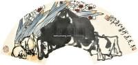 水仙 扇面 设色纸本 - 127608 - 中国书画 - 2011 春季艺术精品拍卖会 -中国收藏网