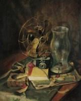 常青 月斜有影 布面油画 - 24316 - 中国油画 - 2006秋季艺术品拍卖会 -收藏网