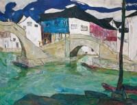 罗尔纯  柯桥水乡 - 罗尔纯 - 中国油画及雕塑 - 2006春季拍卖会 -收藏网