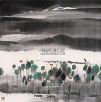 夏日荷塘 镜心 设色纸本 - 119130 - 中国书画 - 第55期中国艺术精品拍卖会 -收藏网