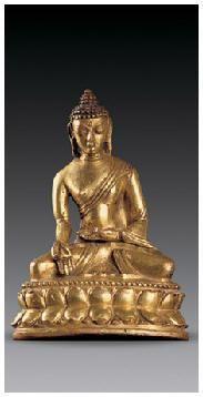 铜鎏金宝生佛像 -  - 佛像唐卡 - 2007春季艺术品拍卖会 -收藏网
