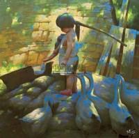 绿茵系列二 布面油画 - 杨华 - 油画之光—油画专场 - 北京康泰首届艺术品拍卖会 -收藏网