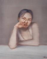 半身女人像 布面 油画 - 尹朝阳 - 中国当代艺术 - 2006秋季拍卖会 -收藏网