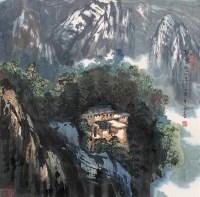 梅岭雪峰 镜心 设色纸本 - 苗重安 - 中国书画 - 2006秋季拍卖会 -中国收藏网