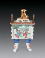 清 粉彩人物香炉 -  - 瓷器玉器工艺品 - 2007秋季艺术品拍卖会 -收藏网