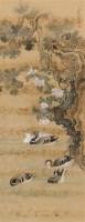 凫鸭图 立轴 设色绢本 - 沈铨 - 中国书画(一) - 第17期精品拍卖会 -收藏网