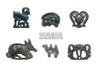 EIGHT BRONZE FIGURAL FITTINGS,HAN DYNASTY AND LATER (206BC-220AD) -  - 中国进出口瓷器 - 2009秋季拍卖会(二) -收藏网