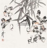 群戏 镜心 设色纸本 - 黄胄 - 中国书画、西画 - 2011季度拍卖会第二期 -中国收藏网