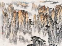 山水 镜心 设色纸本 - 5002 - 中国近现代书画 - 2006冬季拍卖会 -收藏网