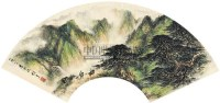 山水扇片 扇片 设色纸本 - 4438 - 中国书画(一) - 2011书画精品拍卖会 -收藏网