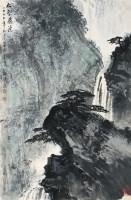 松鹤飞瀑 立轴 设色纸本 - 131604 - 莲晖斋藏书画专场 - 2008年迎春艺术品拍卖会 -收藏网