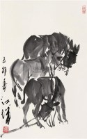 驴 立轴 水墨纸本 - 118859 - 中国书画 - 第117期月末拍卖会 -中国收藏网