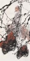 疏林漫步吟诗图 镜心 设色纸本 - 王明明 - 中国当代水墨 - 2006秋季拍卖会 -收藏网