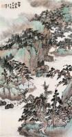 萧俊贤 1934年作 松壑流泉 立轴 设色纸本 - 萧俊贤 - 中国书画(二) - 2006秋季大型艺术品拍卖会 -收藏网