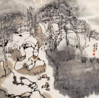 苏州园林 镜心 设色纸本 - 杨延文 - 中国书画 - 2006秋季拍卖会 -中国收藏网