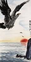 娄师白    鹰击长空 - 娄师白 - 中国近现代书画 - 2007年第1期嘉德四季拍卖会 -收藏网