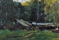 罗工柳 风景 布面油画 - 罗工柳 - 中国油画 - 2006秋季艺术品拍卖会 -收藏网
