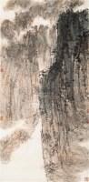 峡江图 立轴 设色纸本 - 傅抱石 - 文盛轩藏中国书画著录专场 - 河南鸿远首届艺术品拍卖会 -收藏网