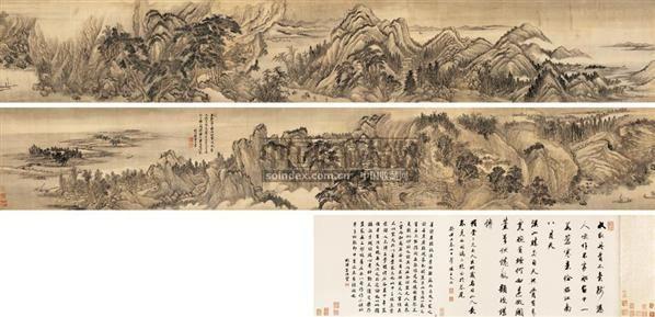 王翚认真研习了山水画技法并大量研摹宋元诸家风格,逐渐探索出符合图片