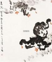 春讯 镜片 - 陈子林 - 中国书画(一) - 2011冬季大型书画拍卖会 -收藏网