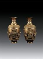 铜鎏金嵌宝石宝瓶(壹对) -  - 卧松斋藏传佛教珍品专题 - 2007春季拍卖会 -中国收藏网