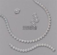钻石项链、手链、戒指及耳环套装 -  - 珠宝翡翠 - 2010年春季拍卖会 -收藏网