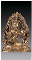 铜鎏金妙音佛母像 -  - 佛像唐卡 - 2007春季艺术品拍卖会 -收藏网