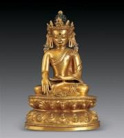 清 铜鎏金释迦牟尼佛 -  - 瓷杂专场 - 2006年秋季拍卖会 -收藏网