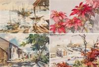 (四幅) 水彩 -  - 中国书画 - 2011秋季拍卖会 -中国收藏网