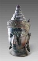 柬埔寨铜佛首 -  - 艺术珍玩 - 十周年庆典拍卖会 -中国收藏网