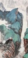 白帝城小景 立轴 设色纸本 - 林丰俗 - 中国书画 - 2006广州冬季拍卖会 -中国收藏网