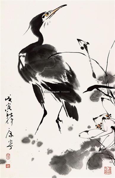 花鸟 带框 纸本 - 38099 - 保真作品专题 - 2011春季书画拍卖会 -收藏网